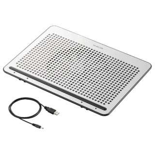 ノートPC用クーラー [USB接続] 角度調節・強冷タイプ(15.4~17型対応・シルバー) SX-CL22LSV
