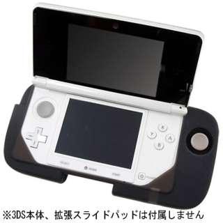 CYBER・拡張スライドパッドシリコンカバー(3DS用) クリアブラック【3DS】