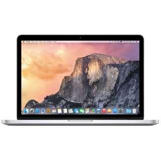 MacBookPro 13インチモデル[Early 2015/SSD 128GB/メモリ 8GB/2.7GHzデュアルコア Core i5]シルバー MF839J/A