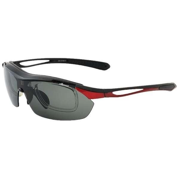 スポーツサングラス ES-S108 1(ブラック×レッド)