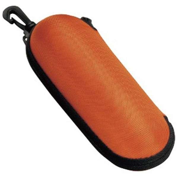 フック付き ウレタンセミハード メガネケース(オレンジ)2899-04