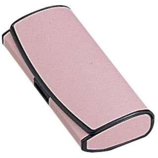 プラスチックレザーハード メガネケース(ピンク)[M]2114-07