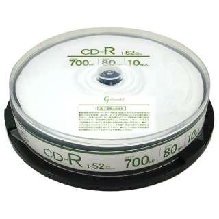 GCR52X10P データ用CD-R [10枚 /700MB /インクジェットプリンター対応]