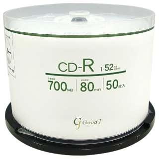 GCR52X50P データ用CD-R [50枚 /700MB /インクジェットプリンター対応]