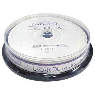 GJDL+8X10PW データ・録画用DVD+R DLメディア [10枚 /8.5GB /インクジェットプリンター対応]