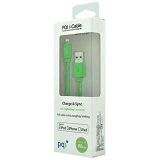 iPad/iPad mini/iPhone/iPod対応 Lightning-USBケーブル 充電・転送 (90cm・グリーン) MFi認証 6PCS-008R0002A