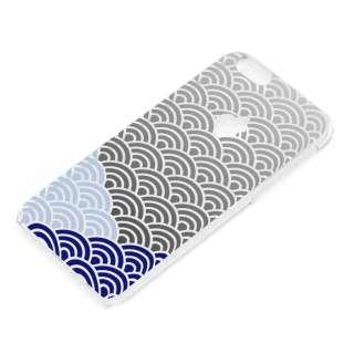 iPhone 6用 and Design クリアハードケース 銀箔/和柄波 PG-I6AD027