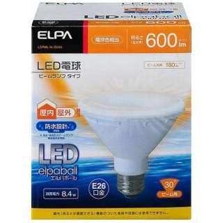 LDR8L-W-G055 LED電球 防水仕様 LEDエルパボール ホワイト [E26 /電球色 /1個 /ビームランプ形 /下方向タイプ]