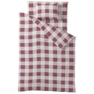 【掛ふとんカバー】チェックプリント シングルサイズ(綿100%/150×210cm/ピンク)【日本製】