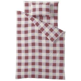 【ボックスシーツ】チェックプリント セミダブルサイズ(綿100%/120×200×30cm/ピンク)【日本製】