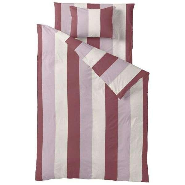 【ボックスシーツ】ストライププリント シングルサイズ(綿100%/100×200×30cm/ピンク)【日本製】