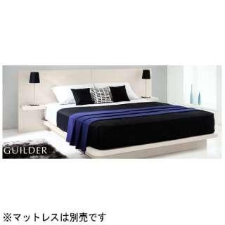 【フレーム】収納なし ギルダー(ナイトテーブル付)(クィーンサイズ/シルクホワイト)【日本製】