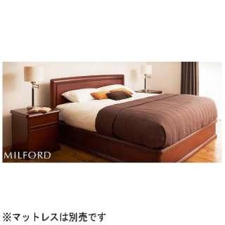 【フレーム】収納付き ミルフォード(クィーンサイズ/ブラウン)【日本製】