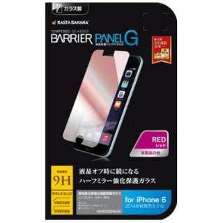 iPhone 6用 バリアパネルG ミラータイプ レッド GM558IP6AR