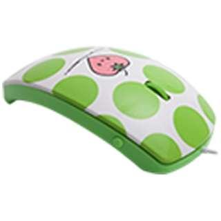 MF-01A-GR マウス mouse fit(マウスフィット) グリーン  [光学式 /3ボタン /USB /有線]