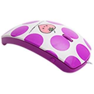 MF-01A-PL マウス mouse fit(マウスフィット) パープル  [光学式 /3ボタン /USB /有線]