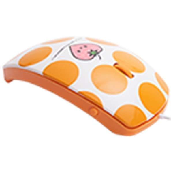 MF-01A-OR マウス mouse fit(マウスフィット) オレンジ  [光学式 /3ボタン /USB /有線]