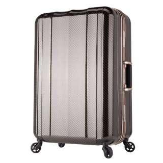 TSAロック搭載スーツケース 超軽量キャリー(69L) 6702-64 ラフカーボンブラックゴールド