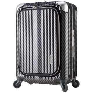 TSAロック搭載スーツケース ビジネスキャリー(38L) 6203-50 ラフカーボンブラックシルバー