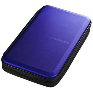 Blu-ray/DVD/CD用セミハードケース 56枚収納 ブルー FCD-WLBD56BL