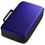 Blu-ray/DVD/CD用セミハードケース 104枚収納 ブルー FCD-WLBD104BL