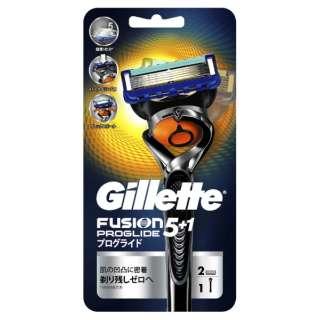 Gillette(ジレット) プログライド フレックスボール マニュアル ホルダー 替刃2個付 〔ひげそり〕