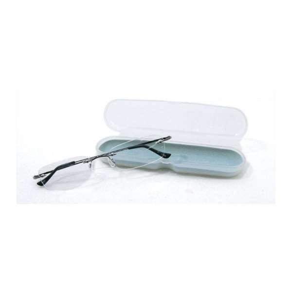 携帯用老眼鏡 テングラス TP-01(シャイニーグレー/+3.00)
