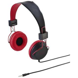MM-HS527TABR ヘッドセット レッド [φ3.5mmミニプラグ /両耳 /ヘッドバンドタイプ]