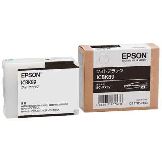 ICBK89 純正プリンターインク Epson Proselection フォトブラック