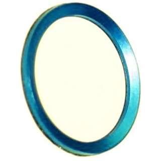 iPhone/iPad対応 指紋認証機能付きホームボタンカバー ブルー/ホワイト BKS-HBIP01-BLW