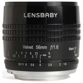 カメラレンズ Velvet56(ベルベット56) ブラック [キヤノンEF /単焦点レンズ]