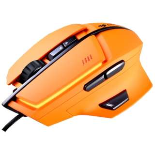 CGR-WLMO-600 ゲーミングマウス 600M オレンジ  [レーザー /8ボタン /USB /有線]