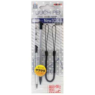 new3DS LL用 伸縮タッチペン ブラック【New3DS LL】