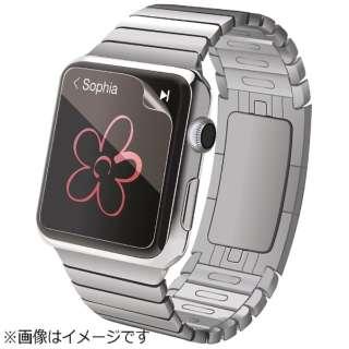 Apple Watch 38mm用 液晶保護フィルム (防指紋光沢) P-AW38FLFTG