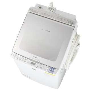 ES-GX850-S 縦型洗濯乾燥機 シルバー系 [洗濯8.0kg /乾燥4.5kg /ヒーター乾燥(排気タイプ) /上開き]