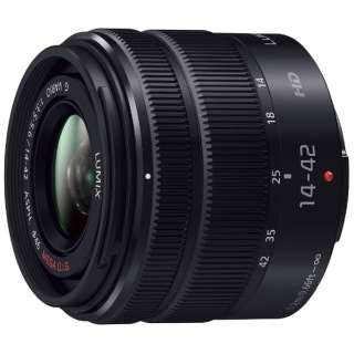 カメラレンズ LUMIX G VARIO 14-42mm/F3.5-5.6 II ASPH./MEGA O.I.S. LUMIX(ルミックス) ブラック H-FS1442A-KA [マイクロフォーサーズ /ズームレンズ]