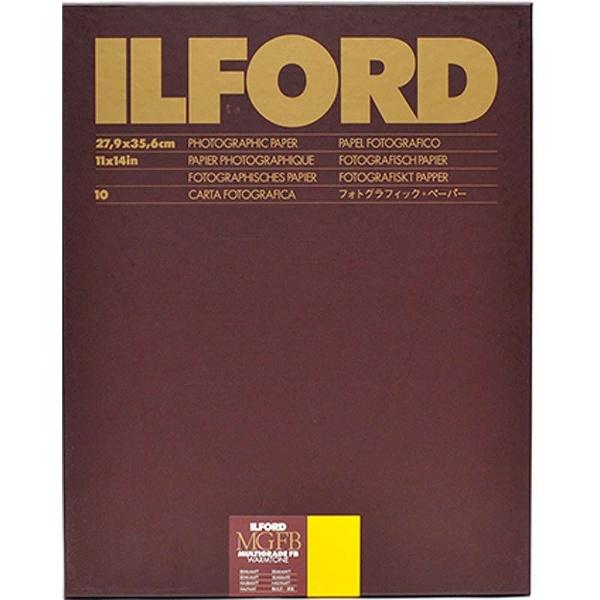 イルフォード マルチグレードFB ウォームトーン 24K 無光沢 11×14in 大四切 10枚入