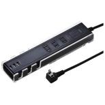 便利タップ ブラック TAP-B45BK [1.0m /3個口 /3ポート /スイッチ無]