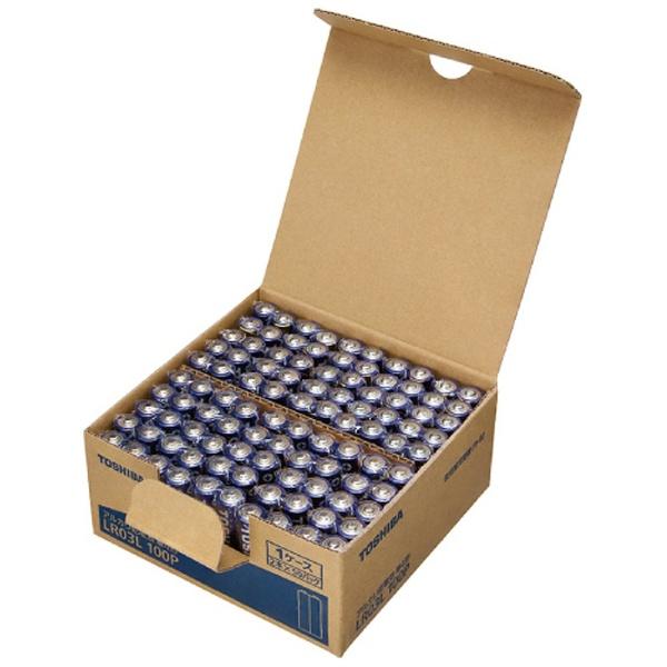 東芝 アルカリ乾電池 単4形 LR03L 100P 1台