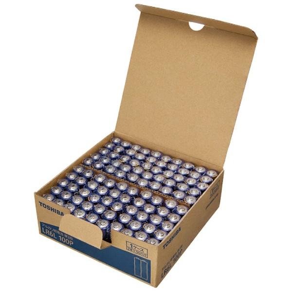 東芝 アルカリ乾電池 単3形 LR6L 100P 1台