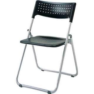 アルミ折りたたみ椅子(スタッキング) アルミパイプ ブラック SSA027BK