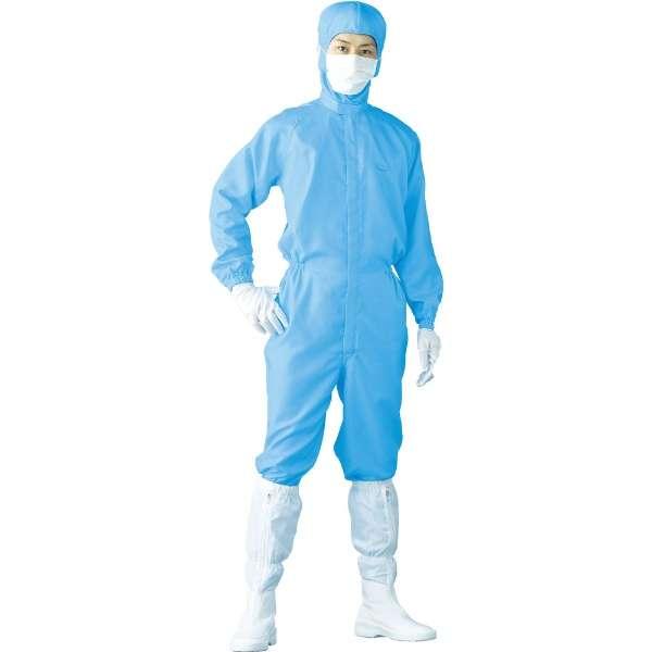 クリーンスーツ M ブルー FH199C02M 《※画像はイメージです。実際の商品とは異なります》