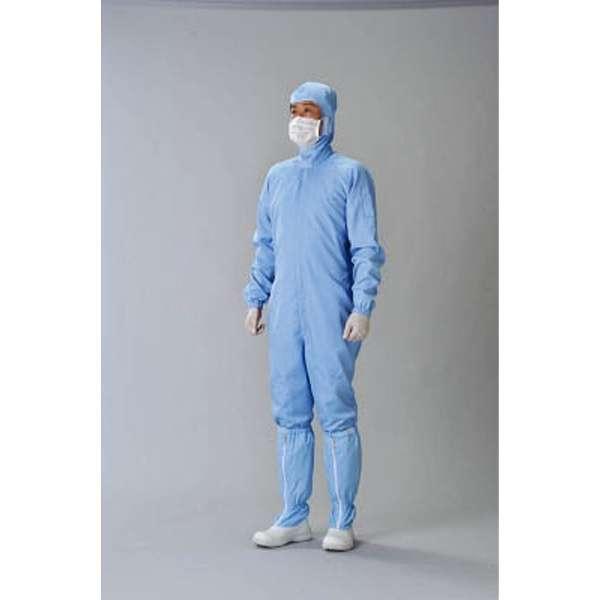 クリーンスーツ ブルー LL CJ10322LL 《※画像はイメージです。実際の商品とは異なります》