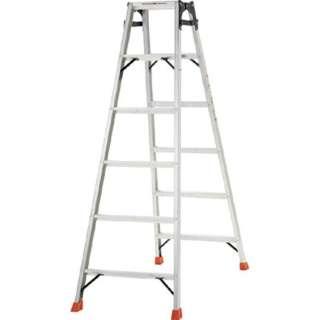 はしご兼用脚立 アルミ合金製・脚カバー付 高さ1.69m THK180