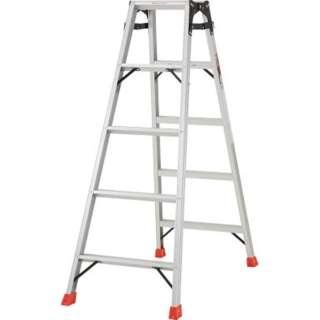 はしご兼用脚立 アルミ合金製・脚カバー付 高さ1.40m THK150