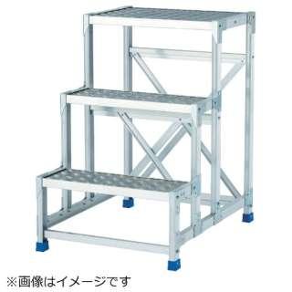 作業台(天板縞板タイプ)3段 CSBC376S 《※画像はイメージです。実際の商品とは異なります》