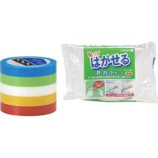 P-カットテープ NO.4142 赤 18mmX25M 4142R18X25