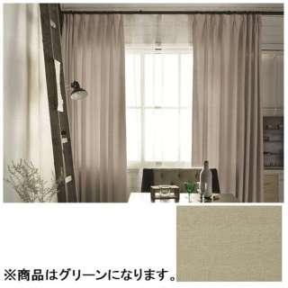 ドレープカーテン ピンヘッド(100×135cm/グリーン)【日本製】