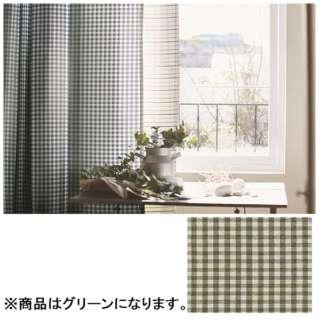 ドレープカーテン ギンガム(100×178cm/グリーン)【日本製】