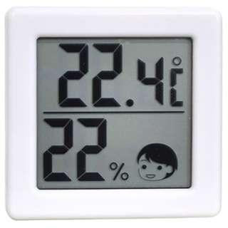 O-257 温湿度計 ホワイト [デジタル]